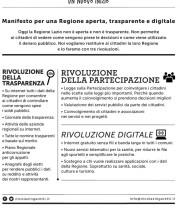 Manifesto per una Regione aperta, trasparente e digitale