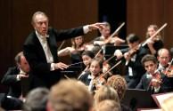 World famous Italian conductor Claudio Abbado conducts his orchestra